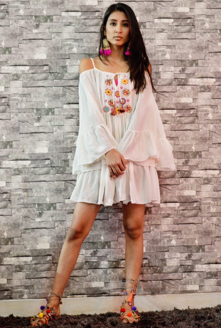 Folklore Collections - Bohemian cover-up mini dress 2, Fashion designer clothing women designer clothing women clothing online designer clothes on sale designer sale canada designer clothes toronto popular clothing stores in toronto