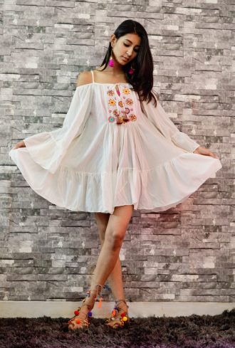 Folklore Collections - Bohemian cover-up mini dress 3, Fashion designer clothing women designer clothing women clothing online designer clothes on sale designer sale canada designer clothes toronto popular clothing stores in toronto