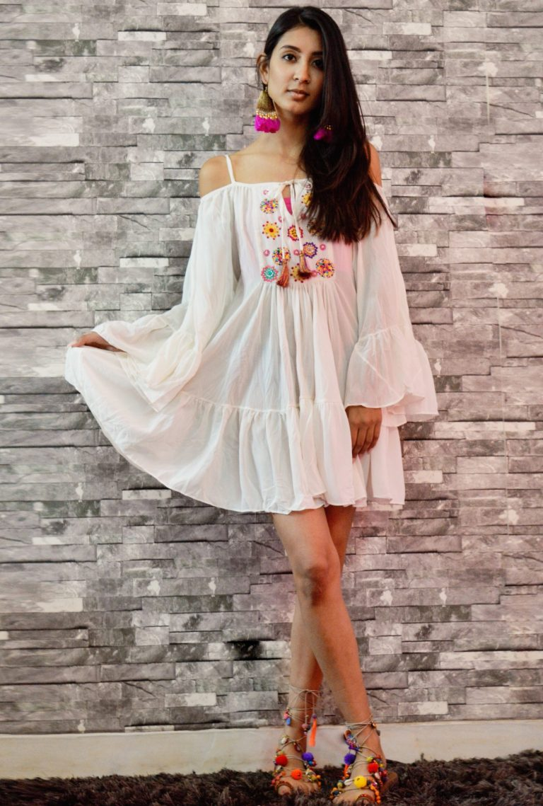 Folklore Collections - Bohemian cover-up mini dress, Fashion designer clothing women designer clothing women clothing online designer clothes on sale designer sale canada designer clothes toronto popular clothing stores in toronto