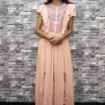 Embroidered Cotton Maxi Dress