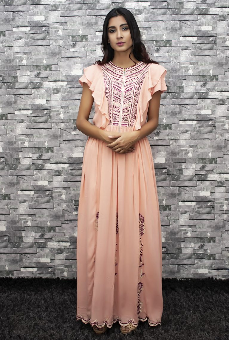 Folklore Collections - Embroidered Cotton Maxi Dress, Fashion designer clothing women designer clothing women clothing online designer clothes on sale designer sale canada designer clothes toronto popular clothing stores in toronto