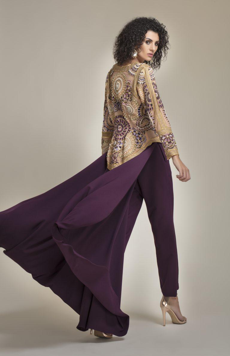 Sequin-embellished mesh
