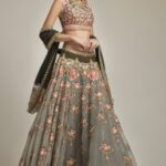 Exclusive Oilve Green Embroidered Lehenga Set