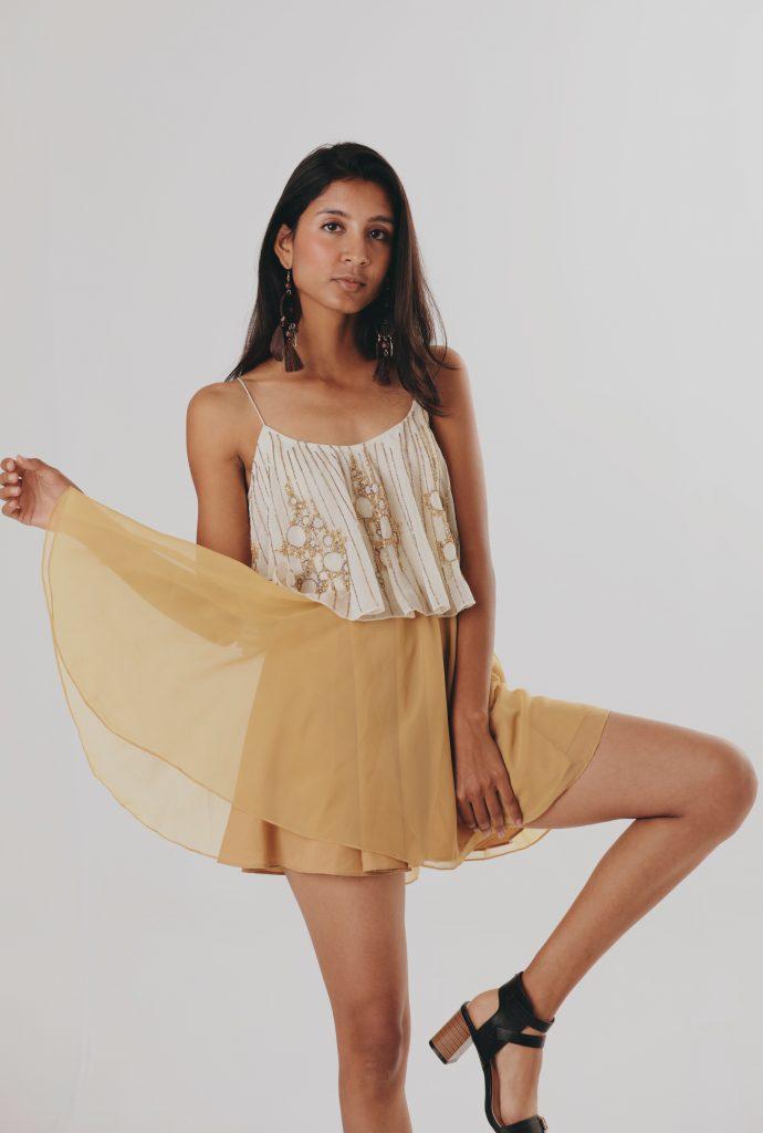 Beaded Layered Slip Dress