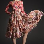 Mandala Printed Sequin-Silk Midi Dress