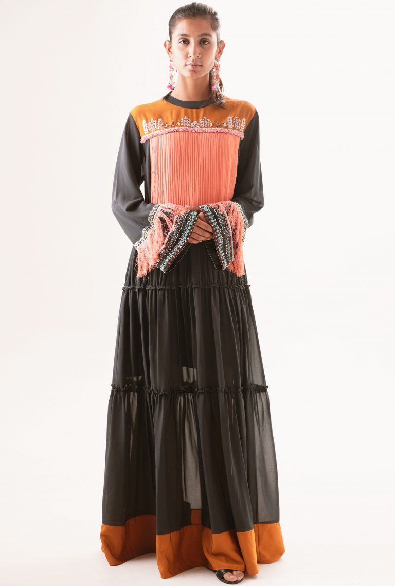 Patchwork Embroidered maxi Dress