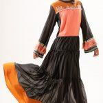 Multi Crepe Embroidered Maxi dress