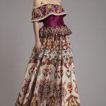 Floral Printed Crepe Skirt