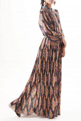 Printed Maxi Dress teal