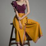 Warli Cotton Wrap Midi Skirt