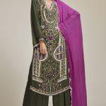 Satin Silk Kundan Embroidered Suit