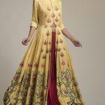 Long Silk Jacket Set – Yellow